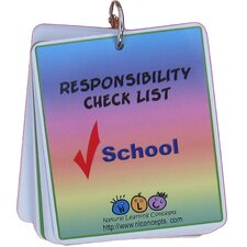 <strong>Natural Learning Concepts</strong> Picture Schedule for School - Responsibility Checklist
