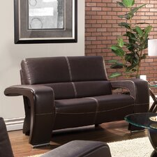 Nova Leatherette Loveseat