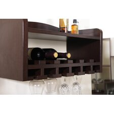 Perrita 6 Bottle Wall Mounted Wine Rack
