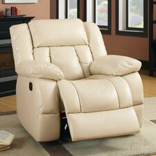 <strong>Hokku Designs</strong> Carlmane Bonded Leather Match Recliner