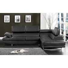 Derrikke Sleek Sectional with Storage Console