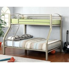 Kostemia Twin Over Full Bunk Bed with Ladder