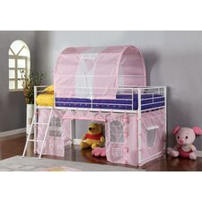 Fantazia Twin Loft Bed with Angled Ladder
