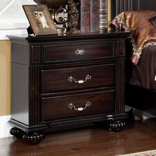Sienzie 3 Drawer Nightstand