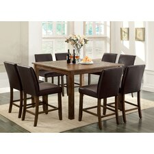 Tacinth 9 Piece Counter Height Dining Set