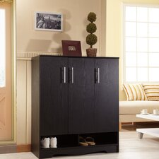 Sadie Modern 7 Shelf Shoe Cabinet