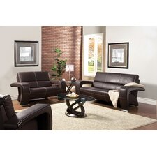 <strong>Hokku Designs</strong> Nova Leatherette Sofa Set