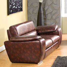 Esteban Leatherette Loveseat