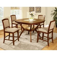 Crystal 5 Piece Counter Height Dining Set