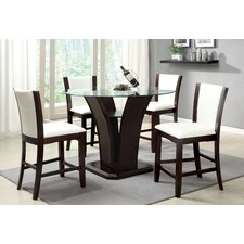 Carmilla 5 Piece Counter Height Dining Set