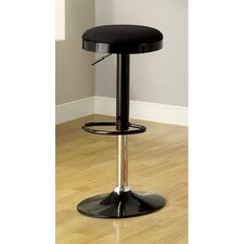 "25.23"" Adjustable Bar Stool with Cushion (Set of 2)"