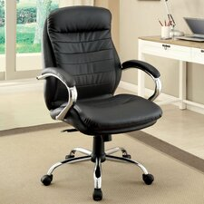 Alexander High-Back Leatherette Office Chair with Arms