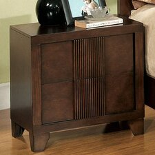 <strong>Hokku Designs</strong> Triad 2 Drawer Nightstand