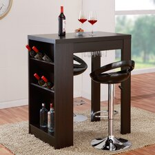 Geardo Bar Table with Cabinet Storage