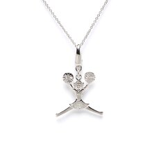 1.3 Grams Sterling Silver Cheerleader Charm