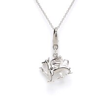 Sterling Silver Winged Dragon Charm