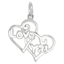 Sterling Silver Love Ya Heart Charm