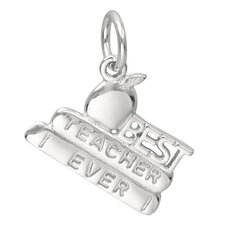 0.9 Grams Sterling Silver Best Teacher Ever Charm