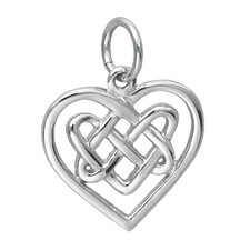 Sterling Silver Celtic Knot Heart Charm