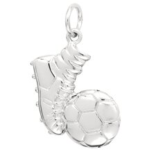 2.7 Grams Sterling Silver Sneaker and Soccer Ball Charm