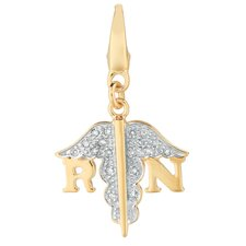RN Symbol Charm in Gold