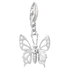 1.2 Grams Sterling Silver Butterfly Charm