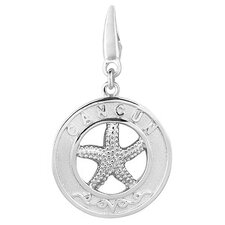 Sterling Silver Cancun Starfish Round Disc Charm