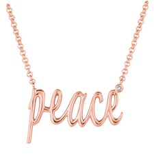 "Diamond ""Peace"" Necklace"
