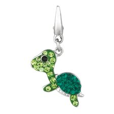 Crystal Turtle Charm with Swarovski Elements