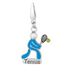 Sterling Silver Olympic Tennis Charm