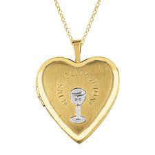 """First Communion"" Heart Locket Necklace"