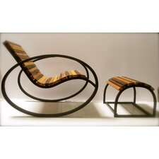 <strong>Shiner International</strong> Pant Rocking Chair and Ottoman