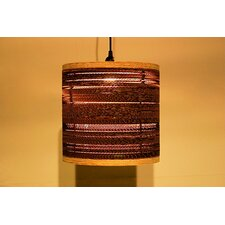 <strong>Shiner International</strong> Corrugated 1 Light Drum Pendant