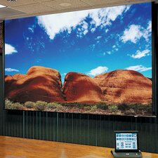 Access Series E Clear Sound White Weave Electric Projection Screen with Low Voltage and Quiet Motor