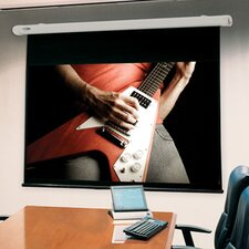 "Salara/HW Clear Sound White Weave 100"" Electric Projection Screen"