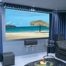 Onyx with Vertex Pearl White Electric Projection Screen