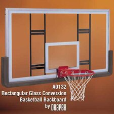 Rectangular Glass Conversion Basketball Backboard