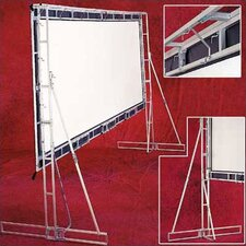 "Flexible Matte White Truss-Style Cinefold Portable Screen - 18' 4"" diagonal HDTV Format"