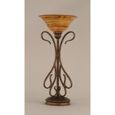 Table Lamp with Firre Saturn Glass Shade