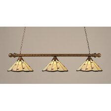 <strong>Toltec Lighting</strong> 3 Light Round Kitchen Island Pendant