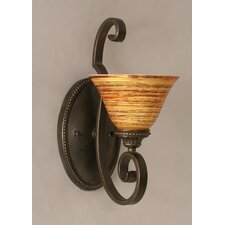 <strong>Toltec Lighting</strong> Elegante 1 Light Wall Bracket