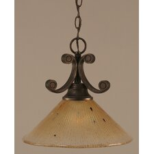 <strong>Toltec Lighting</strong> Curl 1 Light Downlight Pendant