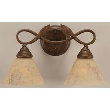 <strong>Toltec Lighting</strong> Leaf 2 Light Bathroom Vanity Light