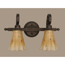<strong>Toltec Lighting</strong> Curl 2 Light Bath Vanity Light
