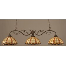 <strong>Toltec Lighting</strong> Jazz 3 Light Kitchen Island Pendant