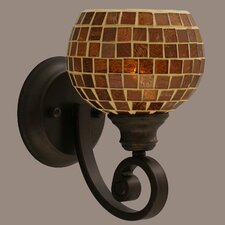 <strong>Toltec Lighting</strong> Curl 1 Light Wall Sconce