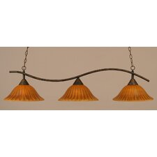 <strong>Toltec Lighting</strong> Swoop 3 Light Island Pendant