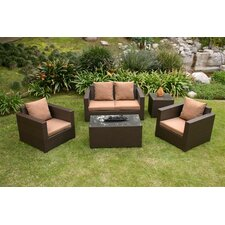 <strong>AIC Garden & Casual</strong> Metro 5 Piece Deep Seating Group with Cushions