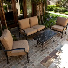 <strong>AIC Garden & Casual</strong> Newport 4 Piece Deep Seating Group