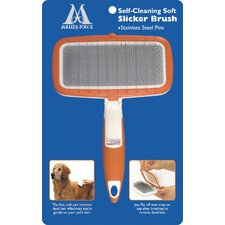 Self-Clean Soft Slicker Dog Brush